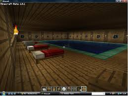 build pool house massive wooden house with swimming pool minecraft project
