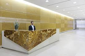 Marble Reception Desk Stone Palette Creates A New Look At Bloomingdale Properties 2011
