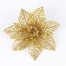 Flower Decoration For New Year by New Glitter Hollow Flower Decoration Flowers For Christmas Trees