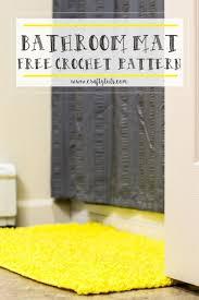 free crochet patterns for home decor bathroom mat free crochet pattern crochet crafts and knit crochet