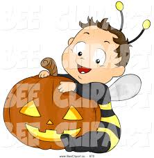 halloween pumpkin cartoons cartoon vector clip art of a halloween baby boy in a bee costume