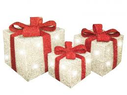 pre lit christmas gift boxes set of 3 decorative pre lit led christmas gift boxes
