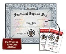emotional support dog its a thing along with a note from your