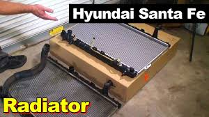 2001 2006 hyundai santa fe radiator youtube