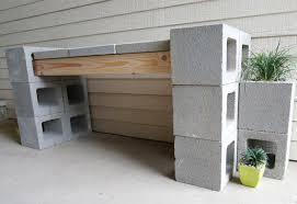 picture of diy cinder block bench