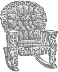 Rocking Chair Png Antique Graphic 1911 Leather Rocking Chair Image Knick Of Time