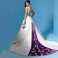 white wedding dress with royal blue sash fresh cheap purple and white wedding dresses 43 for your boho
