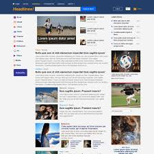download free news magazine bootstrap website template