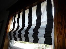 Roman Shades Black - no sew black white stripe roman shades decor eye candy