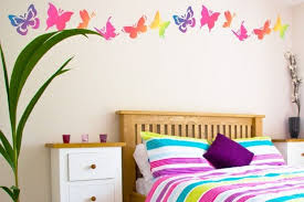 wall decoration ideas for bedroom wall decorations the butterfly