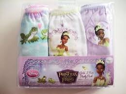 disney princess tiana frog girls underwear 3 pr panty pk