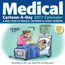 medical cartoon a day 2017 calendar