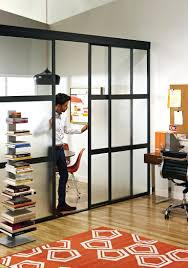 Partition Wall by Sliding Glass Room Dividers In Home Office The Door Cooffice