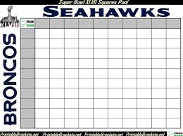 Football Squares Template Excel Bowl Squares Bowl Squares Template