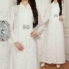 Baju Muslim Ukuran Besar baju muslim busana pesta gamis putih bahan silk sutera dengan