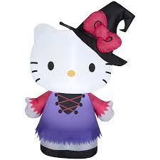 Target Halloween Inflatables by Hello Kitty Halloween Shop Gemmy 3 28 Ft Lighted Hello Kitty