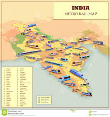 Bhopal India Map by Metro Rail Operational And Future Plan Map Of India Stock Vector