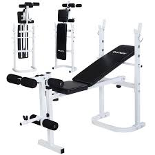 costway olympic folding weight bench incline lift workout press