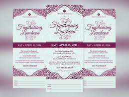 Fundraising Invitation Card Fundraising Luncheon Ticket Template On Behance