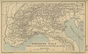 North Italy Free Map Free by Cambridge Modern History Atlas 1912 Perry Castañeda Map