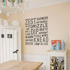 kitchen verbs wall decal kitchen verbs wall quote decal