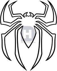 draw spiderman logo spiderman symbol step step