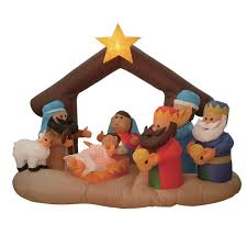amazon com 6 foot long inflatable nativity scene with three wise