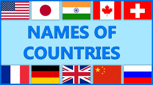 Flags Countries Country Names For Kids Flags Names And Pictures Names Of