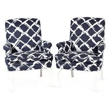 cool navy and accent chair with high back and arms