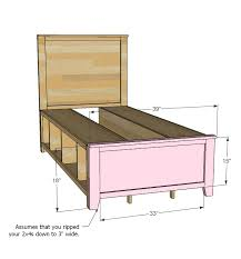 Ana White Build A Side Street Bunk Beds Free And Easy Diy by Ana White Hailey Storage Bed Twin Diy Projects