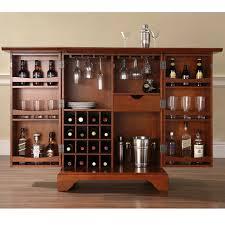 Bar Storage Cabinet Crosley Lafayette Expandable Bar Cabinet Hayneedle