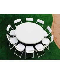 party tables and chairs for rent white party table with 10 chairs 16 package jump 4 adan