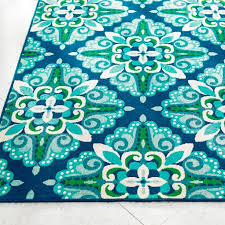 Blue And Green Outdoor Rug Give Any Open Air Space The Bright Pop Of Color And Energy It S