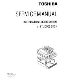 toshiba e studio 2505 f service manual image scanner