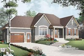 bungalow garage plans w2163 v2 plan de maison bungalow style chêtre rustique