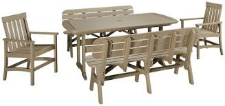 Outdoor Dining Set With Bench Seaside Casual Furniture Portsmouth Seaside Casual Furniture