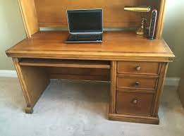 All Wood Computer Desk Furniture Solid Wood Computer Desk With Hutch Featuring Applied