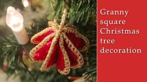 granny square christmas tree decoration youtube