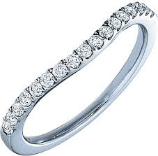 curved wedding bands verragio curved diamond wedding band eng 0352w