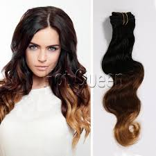 hot wave clip in human hair extension