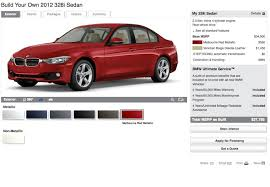 bmw build your car bmw us f30 build your own configurator is