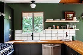 mid century modern walnut kitchen cabinets lake house kitchen reveal our modern cabin kitchen mid