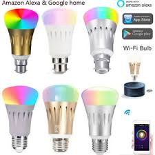 alexa controlled light bulbs b22 e27smart bulb wireless wifi app remote control light for alexa