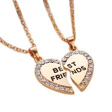 silver best friend necklace images Wholesale gold silver heart puzzle pieces friendship necklace jpg