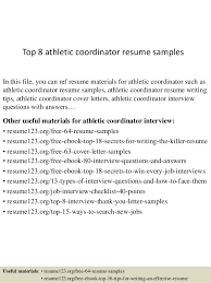 Sample Athletic Resume by Top 8 Athletic Coordinator Resume Samples 1 638 Jpg Cb U003d1434294769