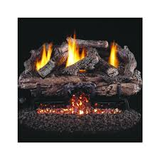 peterson real fyre 24 inch charred aged split oak gas log set with