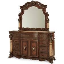 Michael Amini Furniture 4 078 00 Victoria Palace Dresser With Mirror By Michael Amini D2d