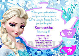 personalized frozen birthday invitations iidaemilia com