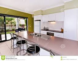 open galley style kitchen stock photo image of clean 15092038