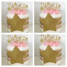 Pink And Gold Baby Shower Decorations by Set Of 4 Twinkle Twinkle Little Star Mini Diaper Cakes Twinkle